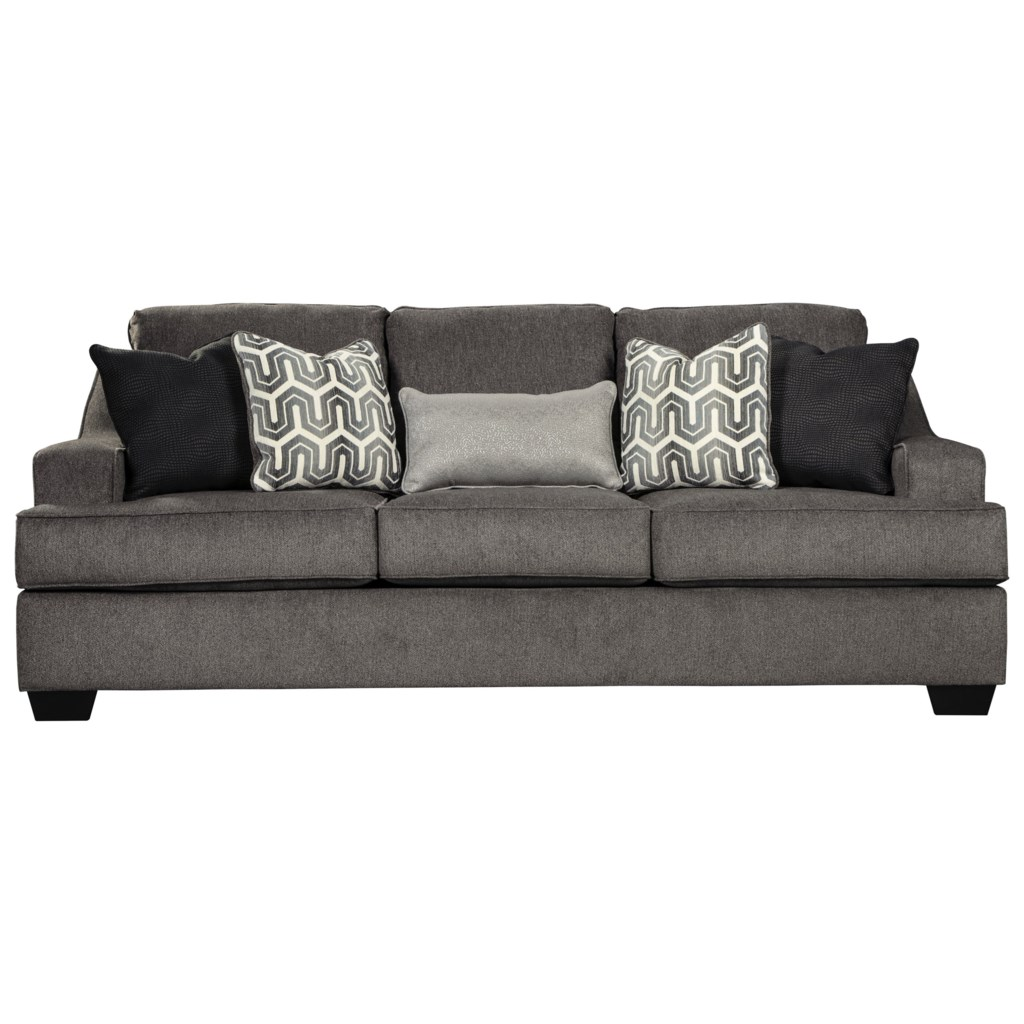 Signature Design By Ashley Gilmer 6560339 Contemporary Queen Sofa  ~ Sofa Sleepers With Memory Foam Mattress