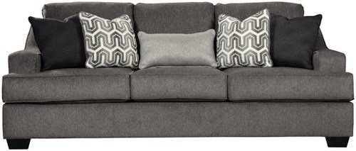 Signature Design by Ashley Gilmer Contemporary Queen Sofa Sleeper with Memory Foam Mattress and Track Arms