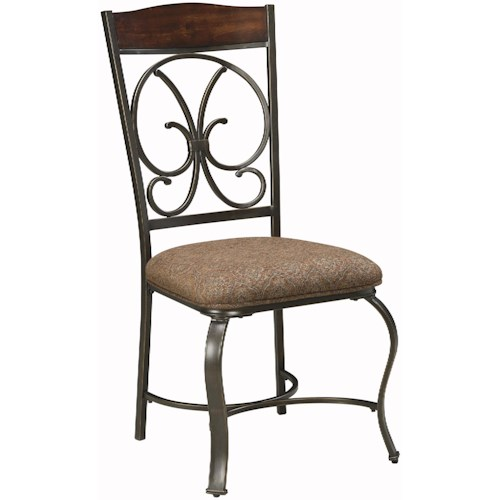 Signature Design by Ashley Glambrey Dining Upholstered Side Chair with Metal Accents