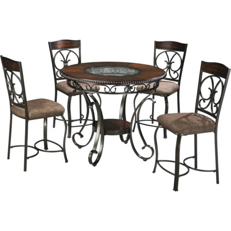 Round Counter Table and Barstool Set