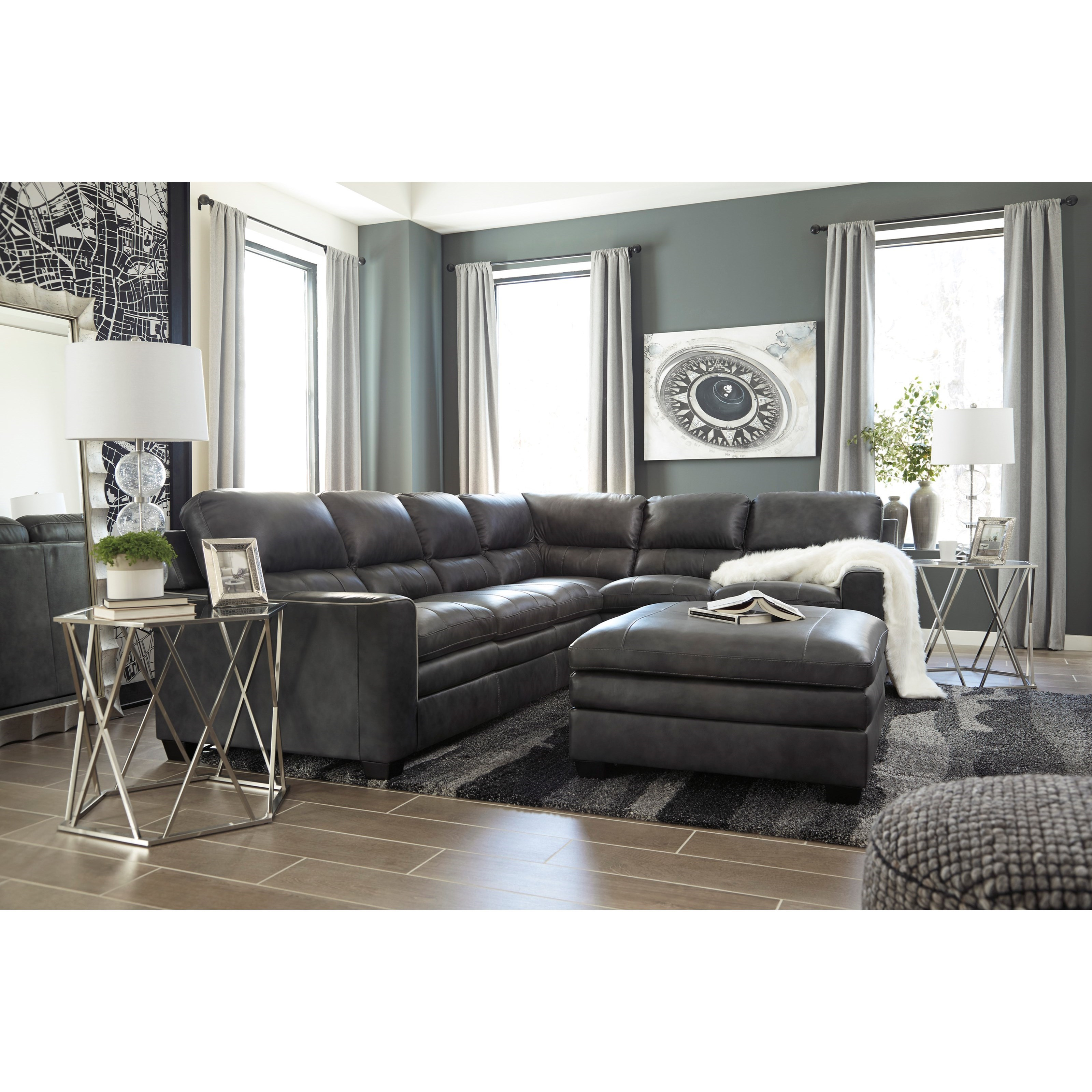 ... Design By Ashley Gleason Stationary Living Room Group. Shown In:  Charcoal Gleason Charcoal Good Looking