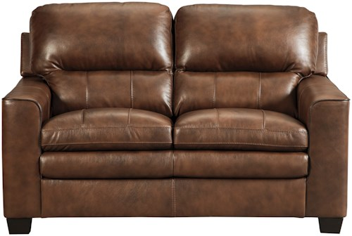 Signature Design by Ashley Gleason Leather Match Loveseat