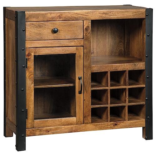 Ashley Furniture Glosco Kitchen Hutch: Signature Design By Ashley Glosco Solid Wood Mango Wine