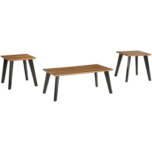 Signature Design by Ashley Golander Two-Tone Occasional Table Set