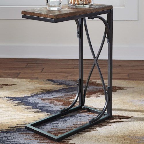 Signature Design by Ashley Golander C-Table Chair Side End Table with Metal Base