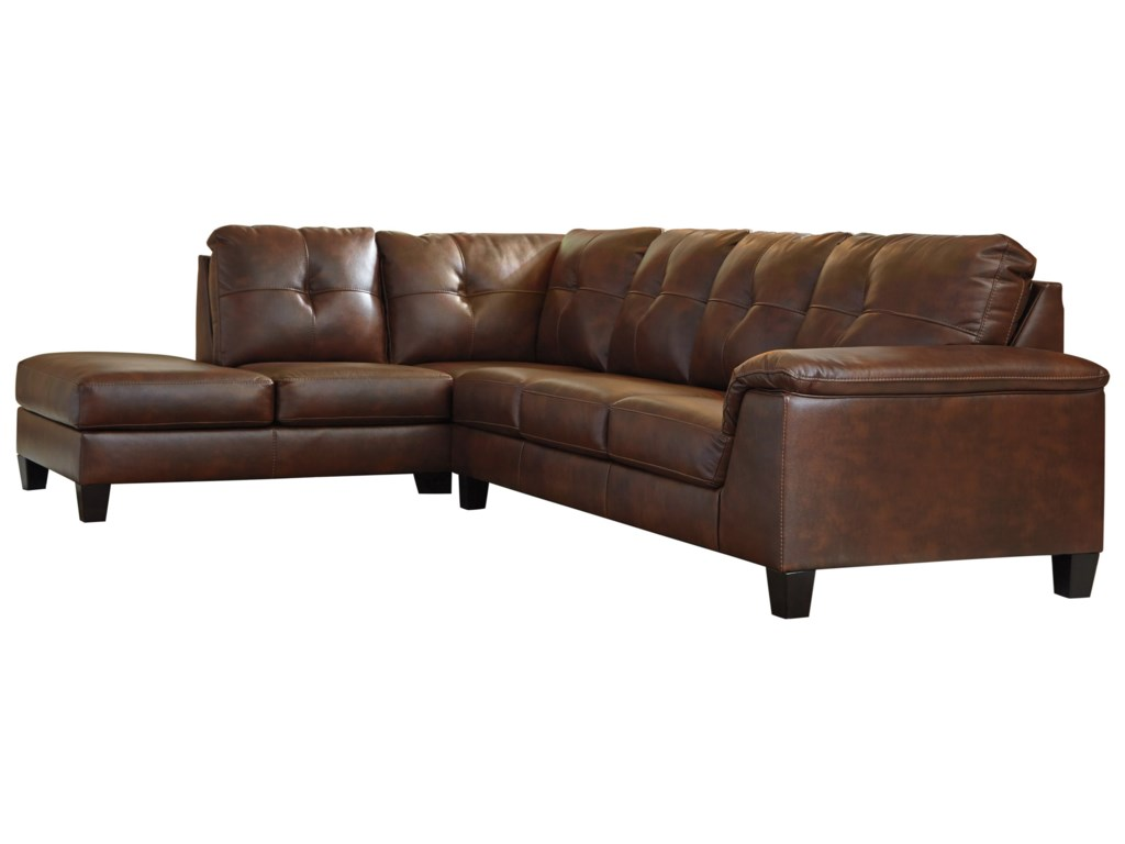 Signature Design by Ashley Goldstone Contemporary 2 Piece Sectional ...