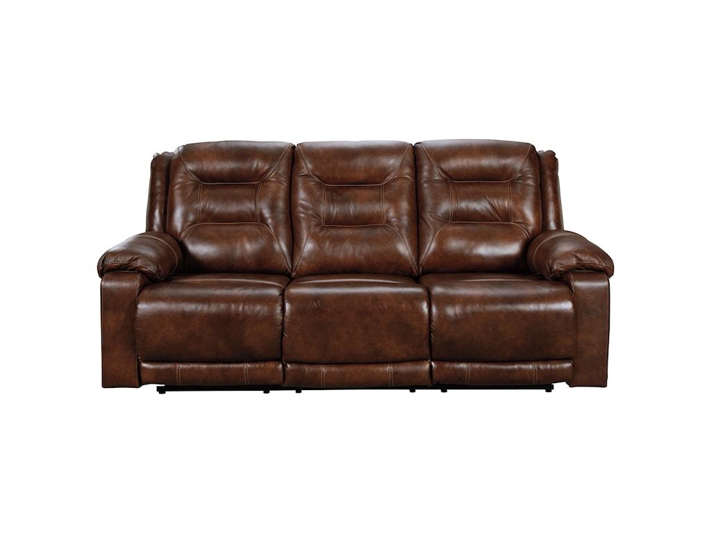 Signature Design by Ashley GolstonePower Reclining Sofa w/ Adjustable Headrests