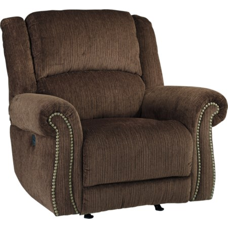 Power Rocker Recliner w/ Adjustable Headrest
