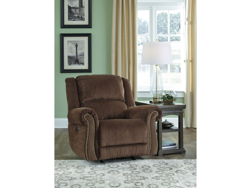 Signature Design by Ashley GoodlowPower Rocker Recliner w/ Adjustable Headrest