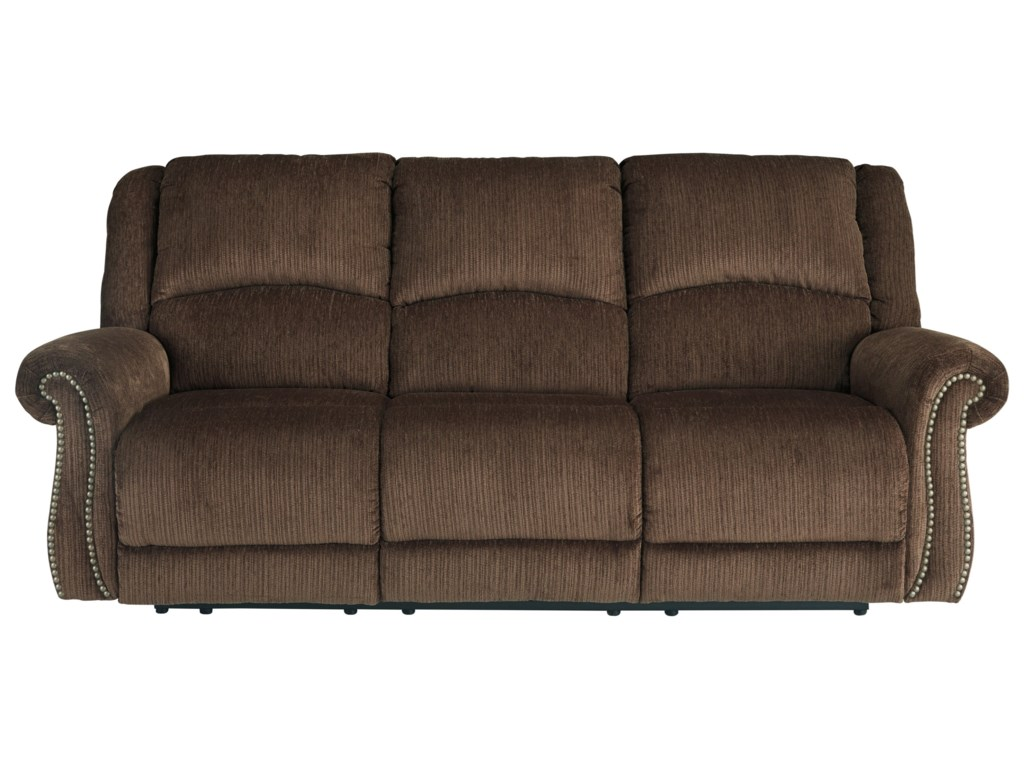 Signature Design by Ashley GoodlowPower Reclining Sofa w/ Adjustable Headrests
