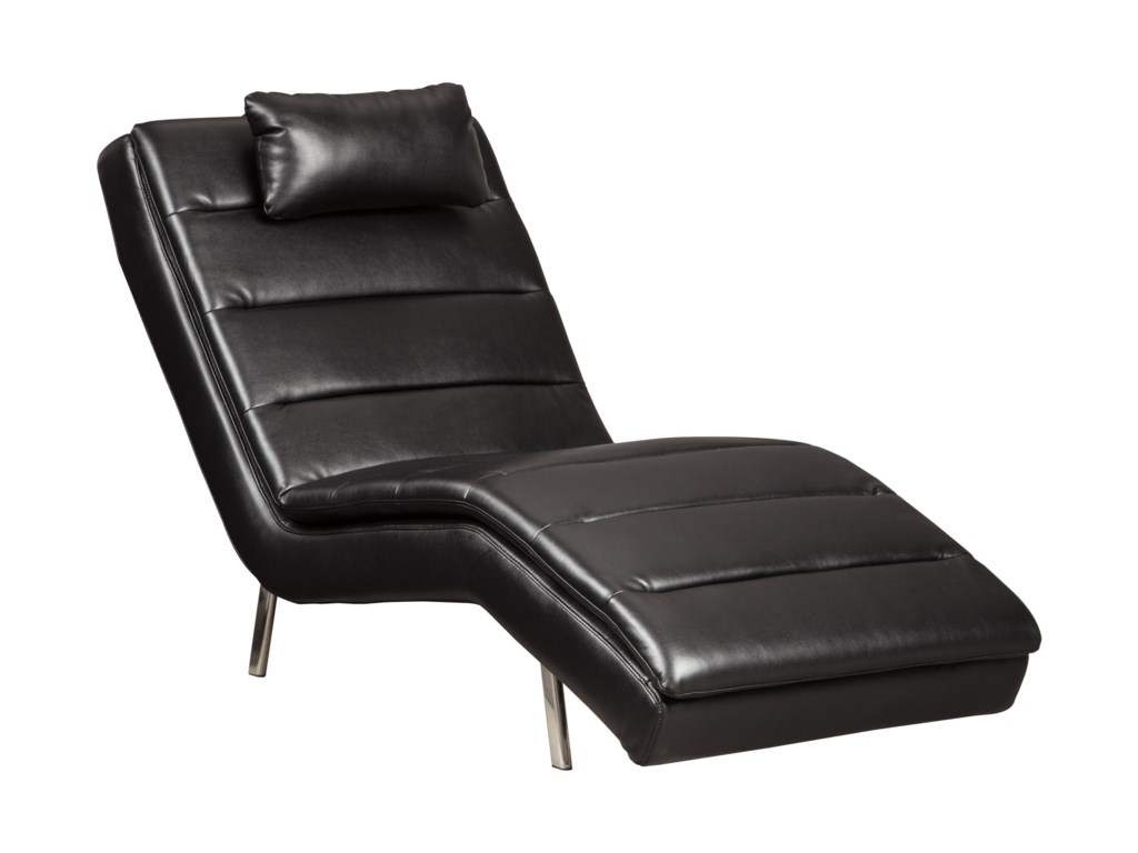 Signature Design by Ashley Goslar Contemporary Faux Leather Chaise on
