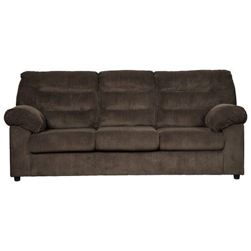 Signature Design by Ashley Gosnell Casual Sofa with Corduroy Fabric