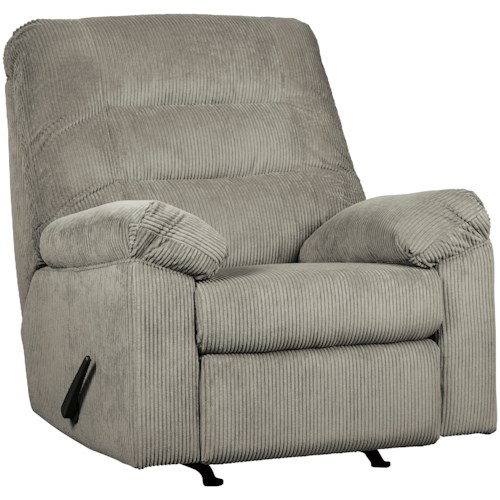 Signature Design by Ashley Gosnell Casual Rocker Recliner with Corduroy Fabric