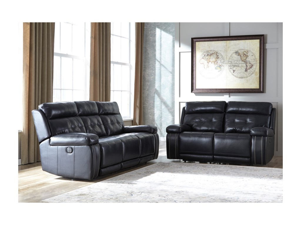 Ashley Graford Reclining Living Room Group Shown In Navy