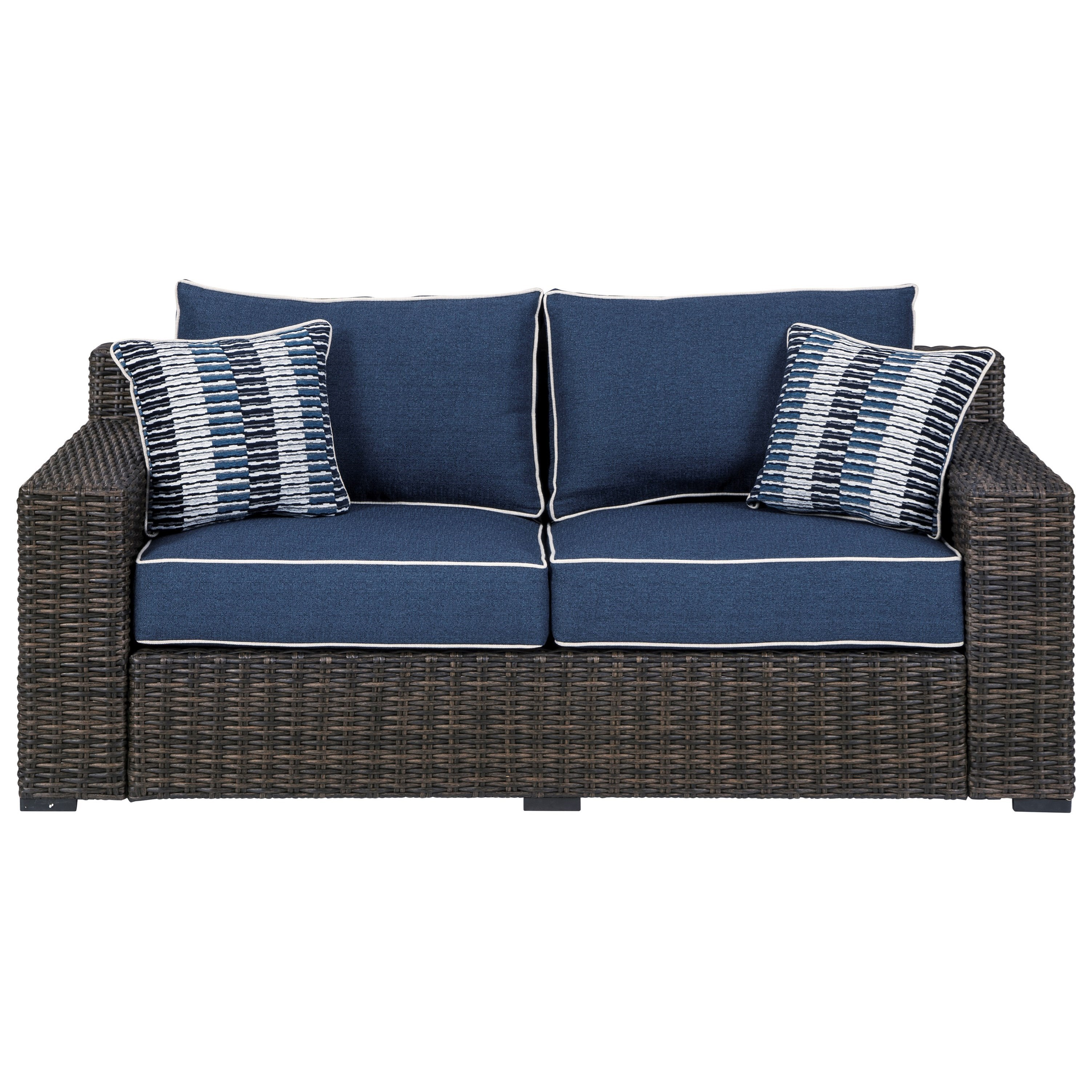 Contemporary Loveseat with Cushion