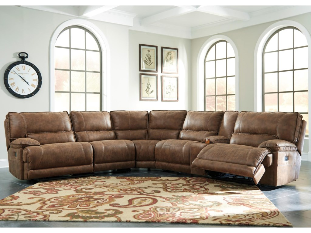 Signature Design by Ashley Grattis6-Piece Power Reclining Sectional w/ Console