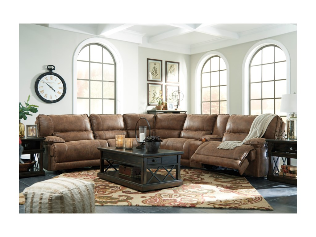 ashley products faux bladen piece signature item by leather number design sectional