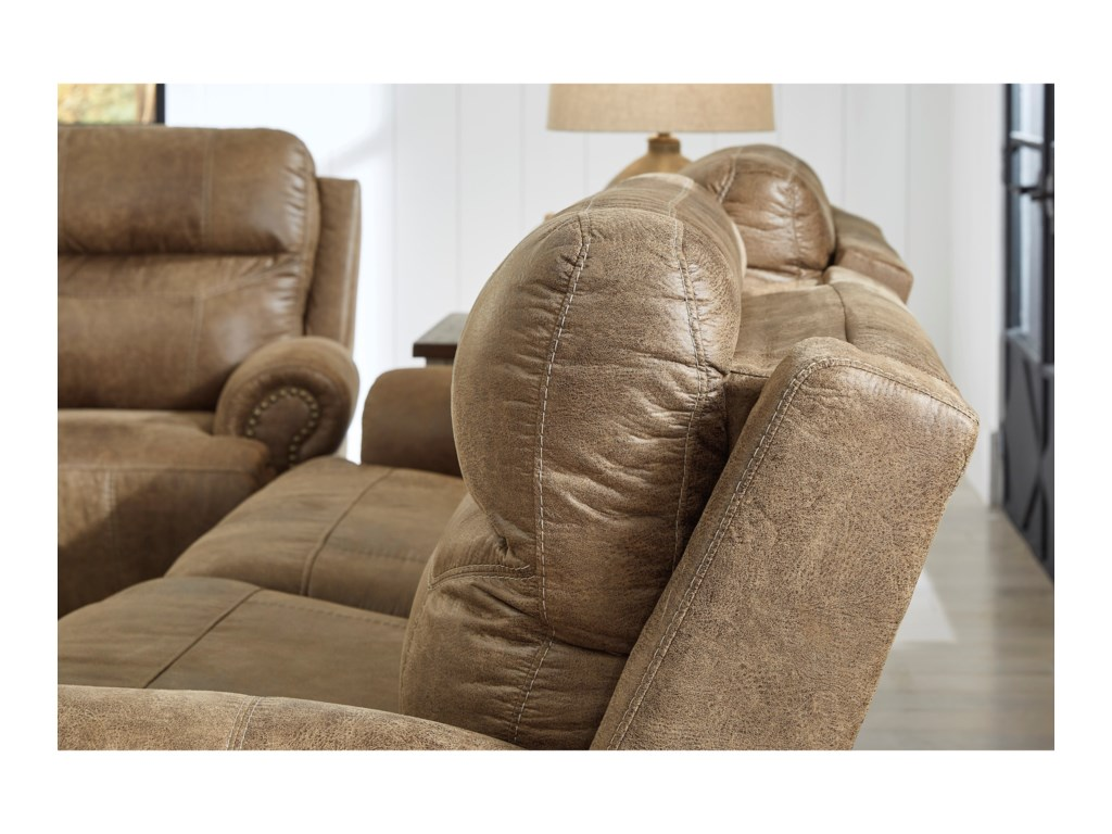Signature Design by Ashley GrearviewPower Reclining Loveseat with Console