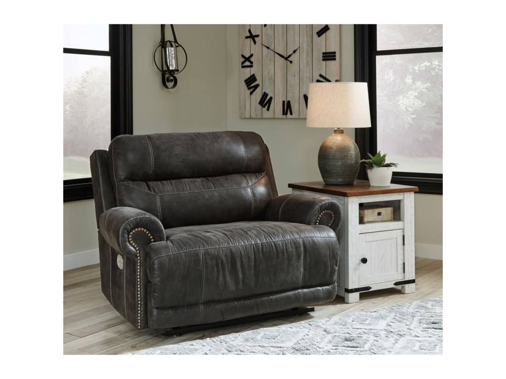 Signature Design by Ashley GrearviewOversized Power Recliner