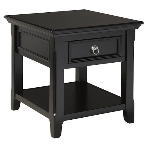 Signature Design by Ashley Greensburg Rectangular End Table with 1 Drawer & 1 Shelf