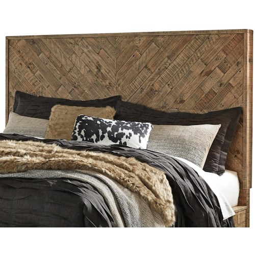 Signature Design by Ashley Grindleburg Rustic Queen Panel Headboard