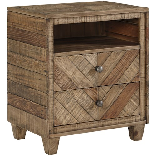 Signature Design by Ashley Grindleburg 2 Drawer Night Stand