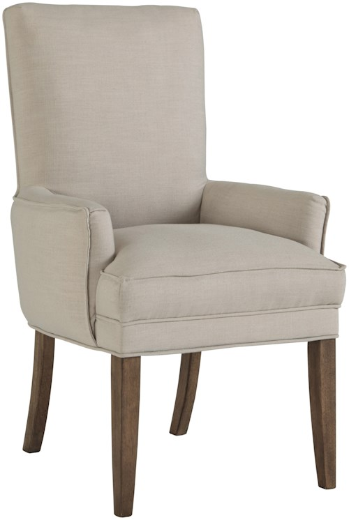 Signature Design by Ashley Grindleburg Dining Upholstered Arm Chair with Pillowtop Seat Cusion