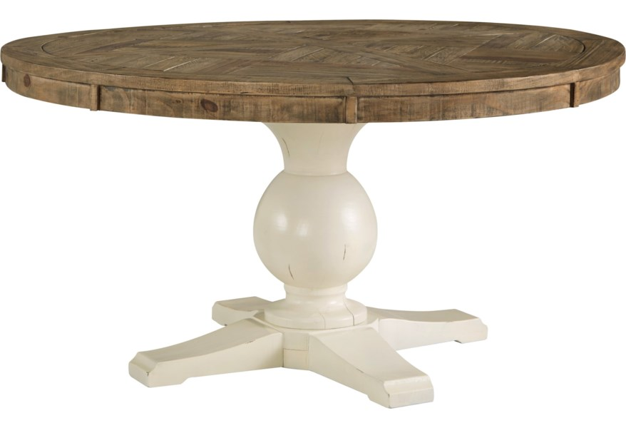 Signature Design Grindleburg Round Dining Room Pedestal Table