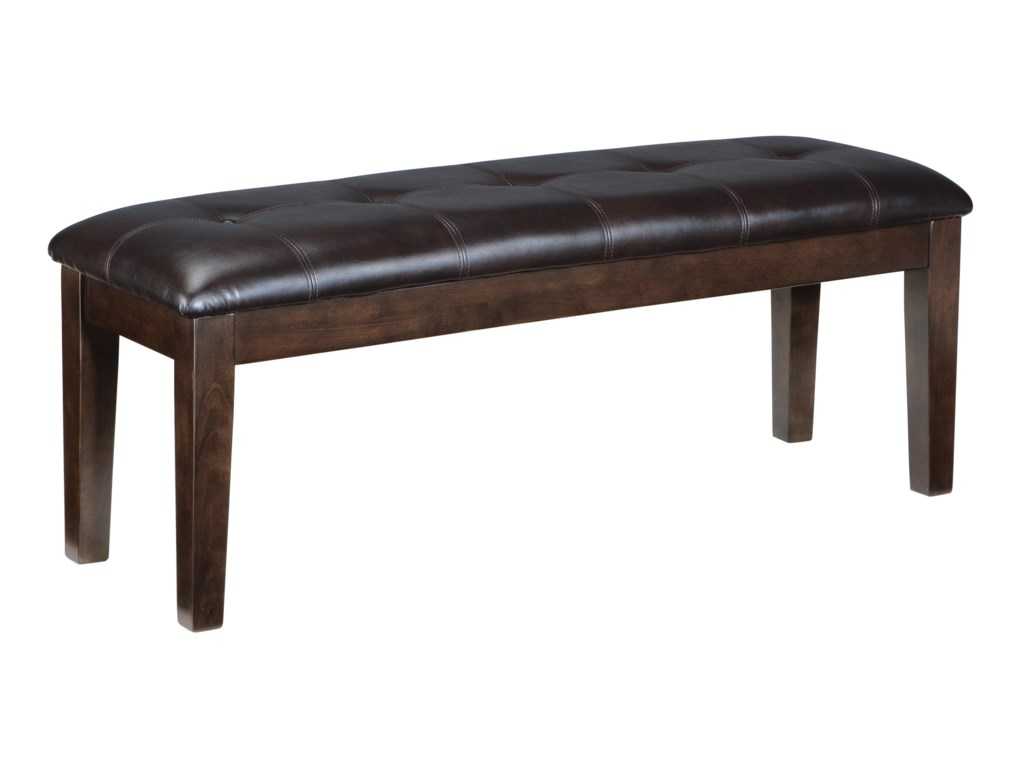 Signature Design By Ashley Haddigan Large Faux Leather Upholstered Dining Room Bench