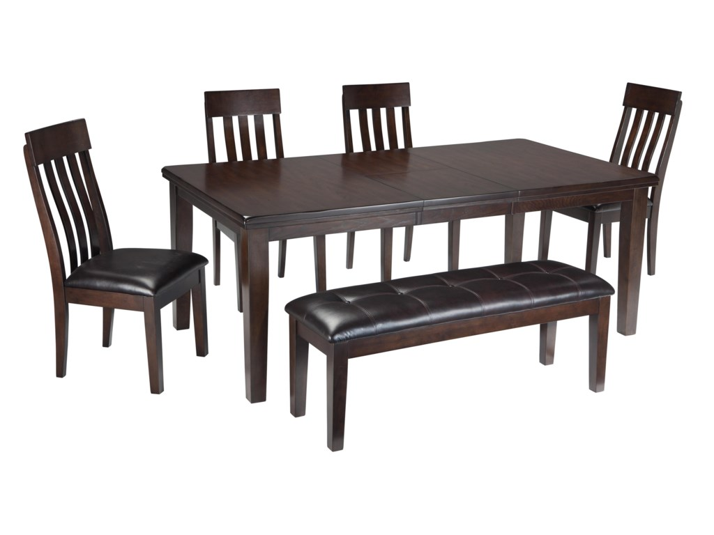 Signature Design by Ashley Haddigan 6-Piece Rectangular Dining Room ...