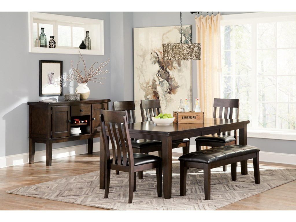 Signature Design by Ashley Haddigan6-Piece Table, Chair and Bench Set
