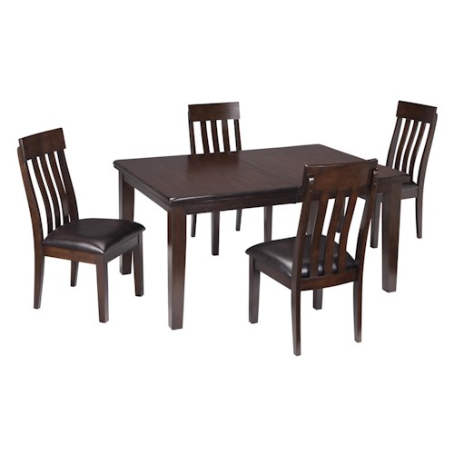 Signature design by ashley haddigan 5 piece rectangular for 4 x dining room chairs