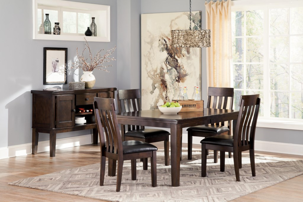 signature design by ashley haddigan 5 piece rectangular dining signature design by ashley haddigan 5 piece rectangular dining room table w oak veneers and upholstered dining side chair w lumbar curve set