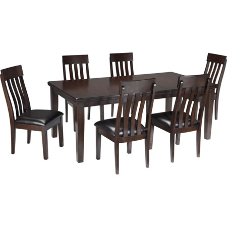 7-Piece Dining Room Table & Side Chair Set