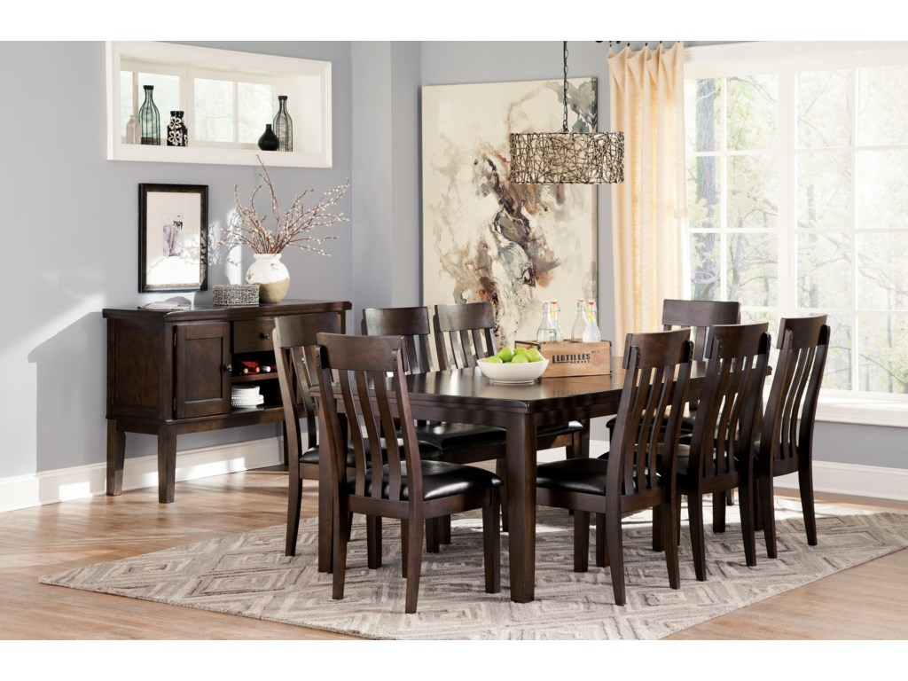 Signature Design by Ashley Haddigan9-Piece Dining Room Table & Side Chair Set