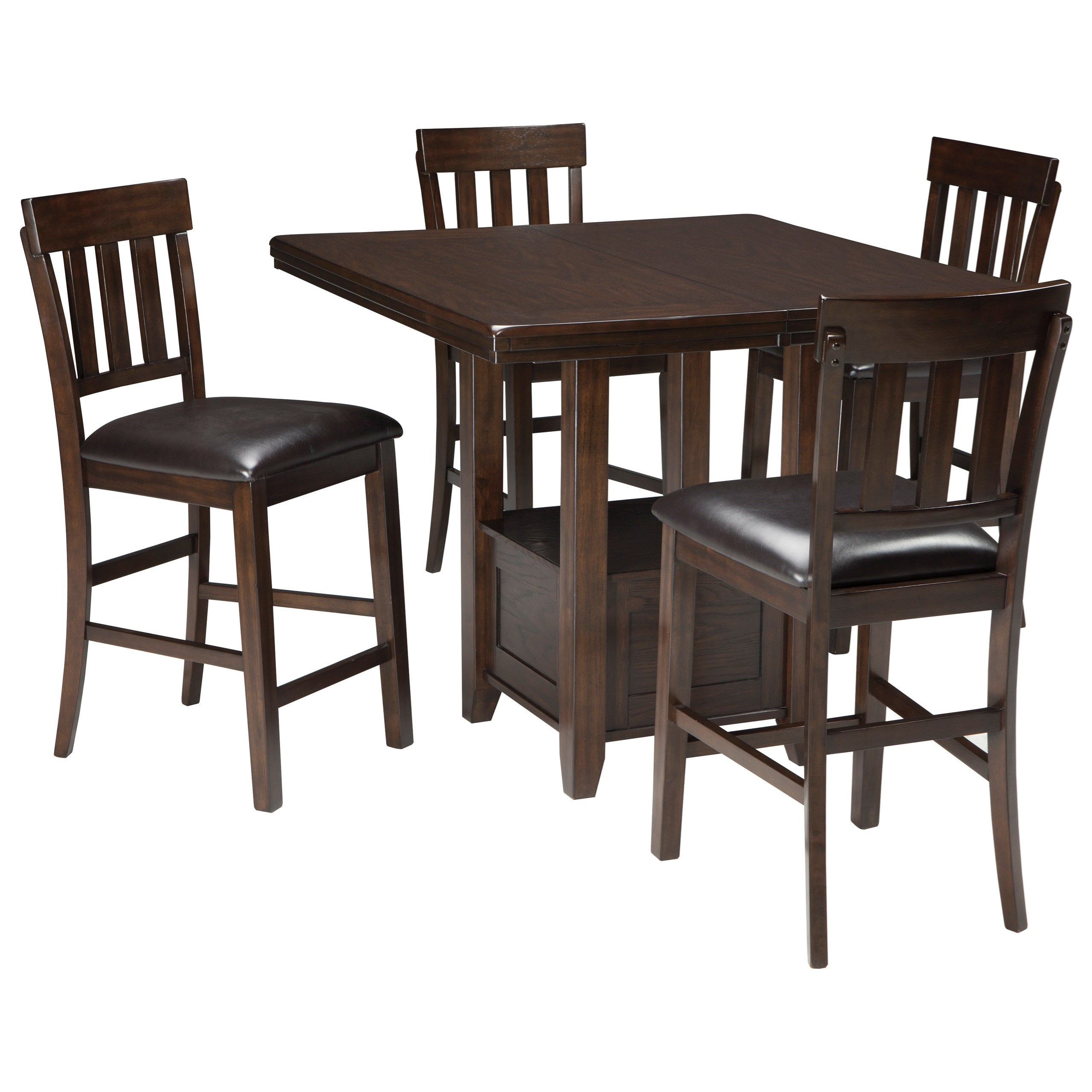 Signature Design by Ashley Haddigan 5-Piece Dining Room Counter Extension Table Set  sc 1 st  Wayside Furniture & Signature Design by Ashley Haddigan 5-Piece Dining Room Counter ...