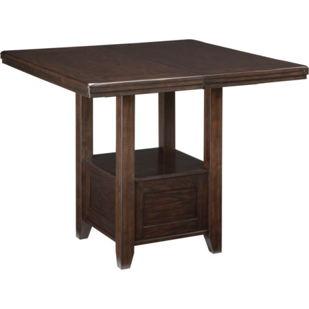 Rectangular Dining Room Counter Ext. Table