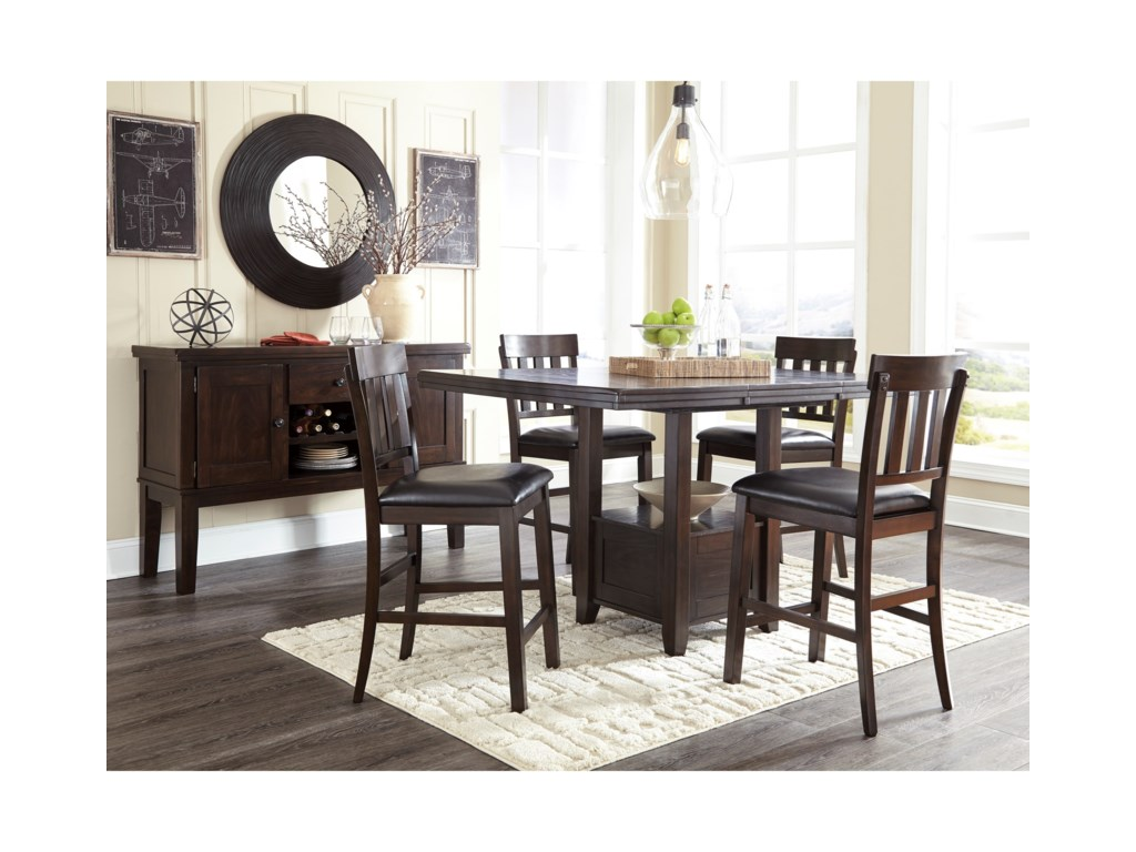 Signature Design by Ashley HaddiganRectangular Dining Room Counter Ext. Table
