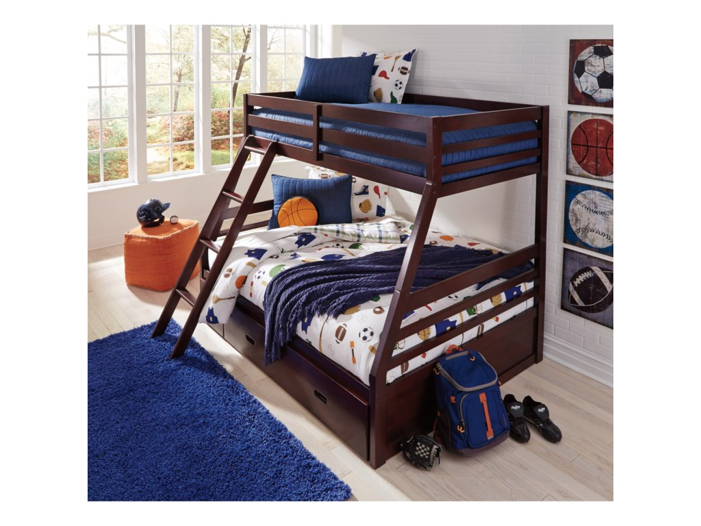 Signature Design by Ashley HalantonTwin/Full Bunk Bed w/ Under Bed Storage