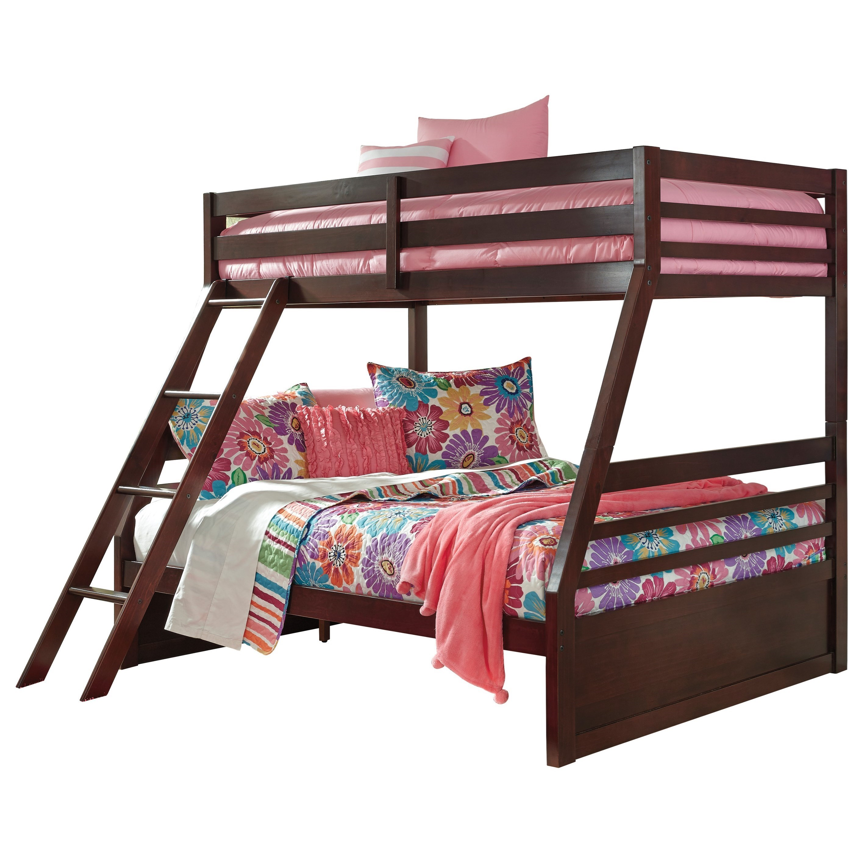 Signature Design By Ashley Halanton Solid Pine Twin/Full Bunk Bed    Household Furniture   Bunk Beds