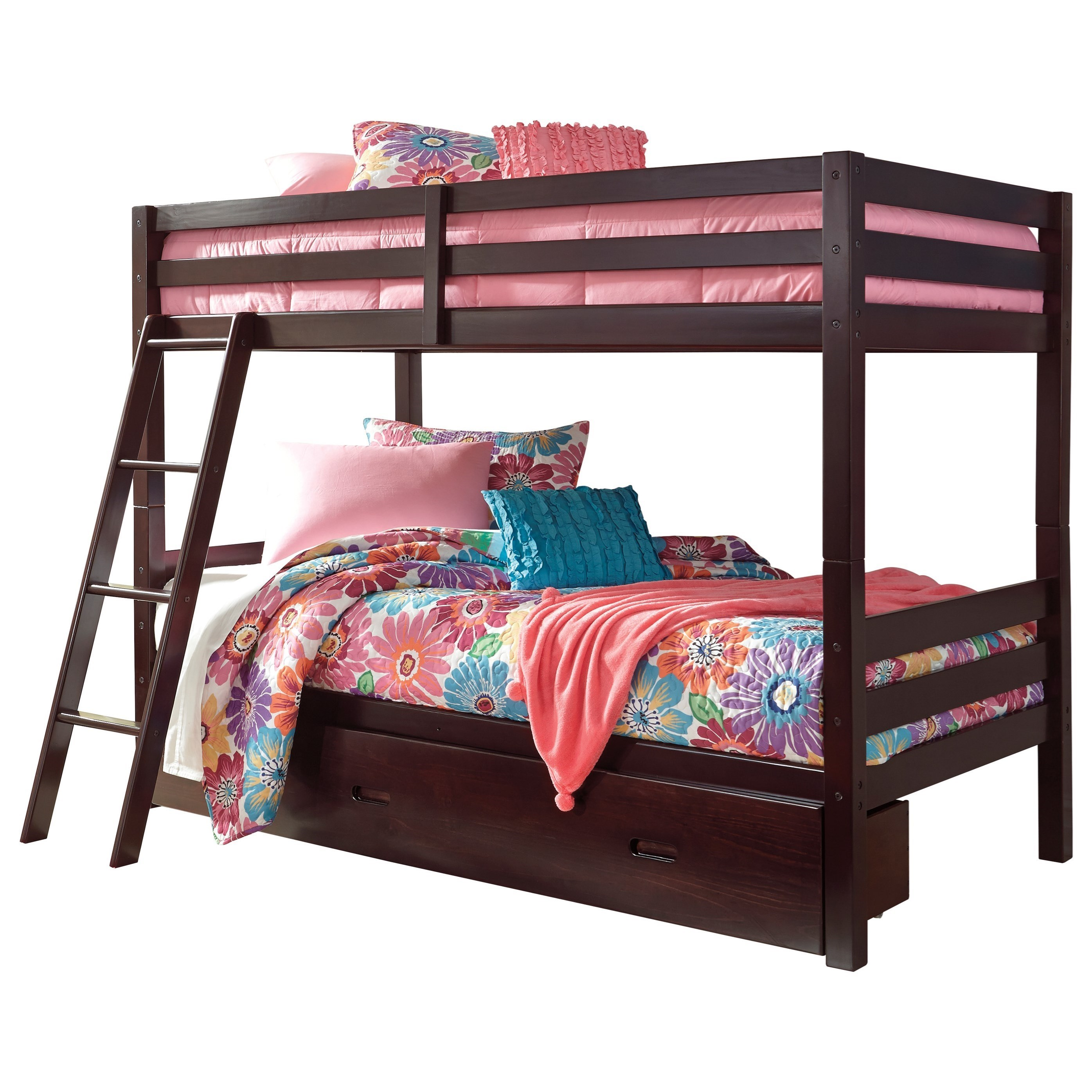 Signature Design by Ashley HalantonTwin/Twin Bunk Bed w/ Under Bed Storage ...  sc 1 st  Royal Furniture & Signature Design by Ashley Halanton Solid Pine Twin/Twin Bunk Bed w ...