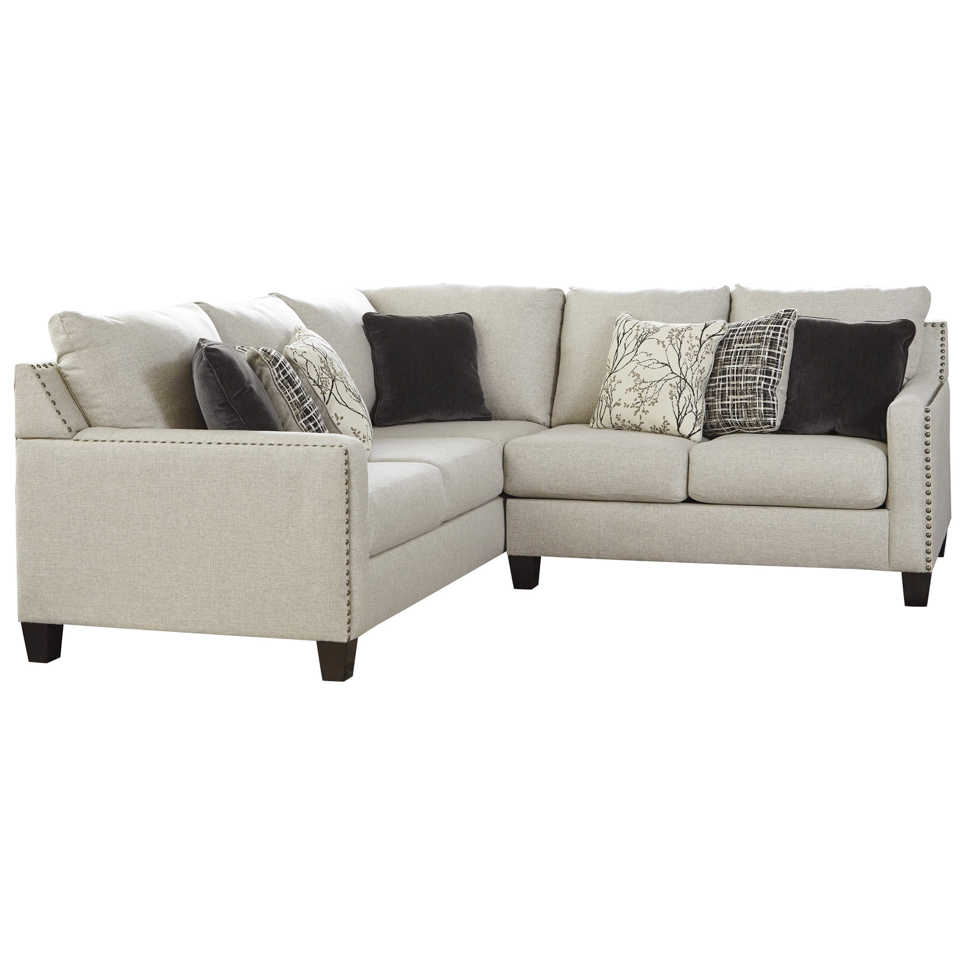 2-Piece Sectional with Nailhead Trim Accents