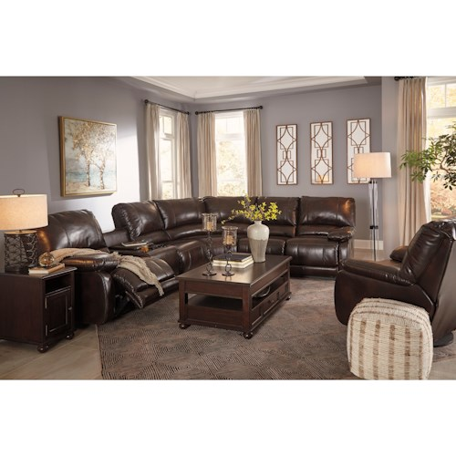 Signature Design by Ashley Hallettsville Reclining Living Room Group