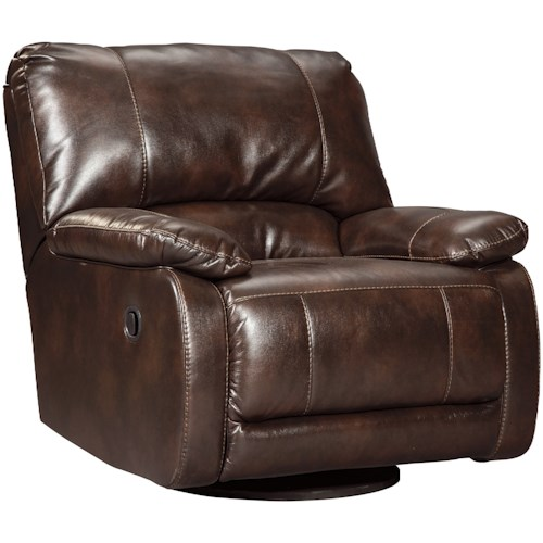 Signature Design by Ashley Hallettsville Casual Contemporary Swivel Glider Recliner