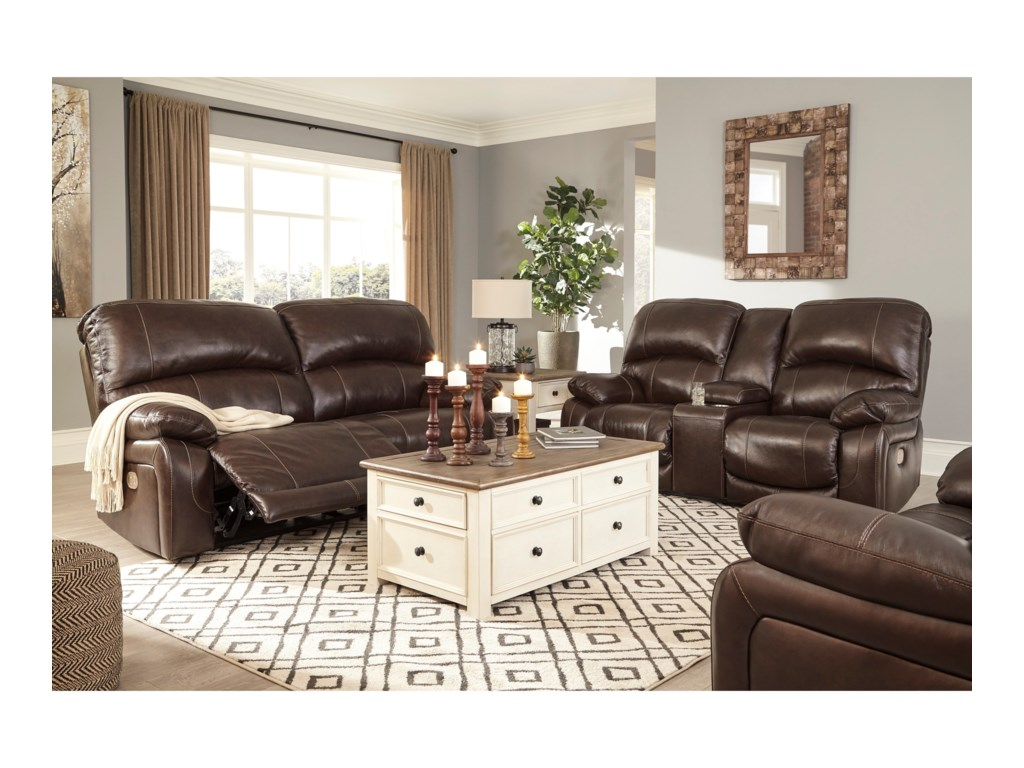 Ashley (Signature Design) HallstrungPower Reclining Living Room Group