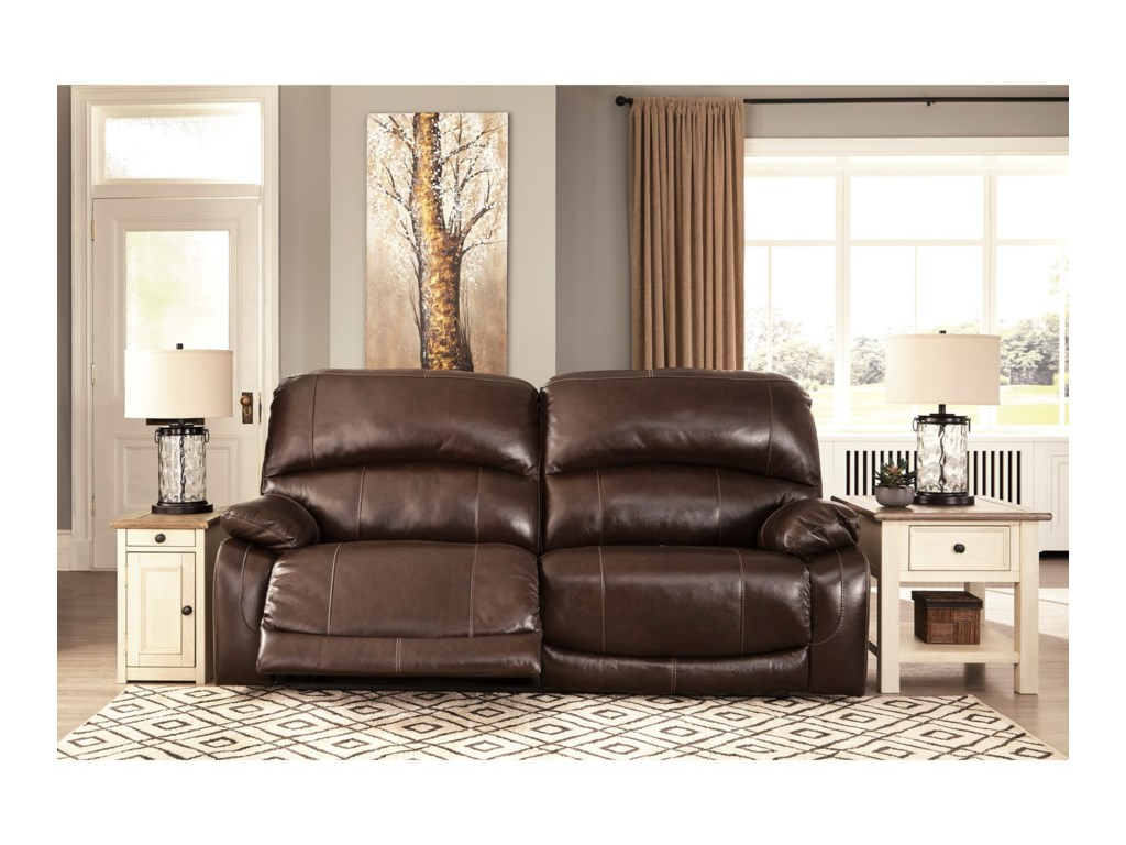 Signature Design by Ashley Hallstrung2 Seat Reclining Power Sofa