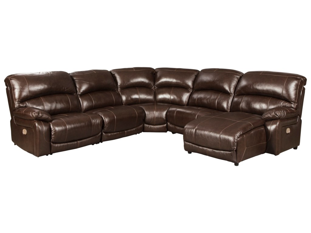 Signature Design by Ashley Hallstrung5-Piece Reclining Sectional with Chaise