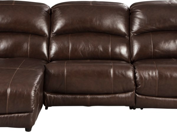 3-Piece Reclining Sectional with Chaise