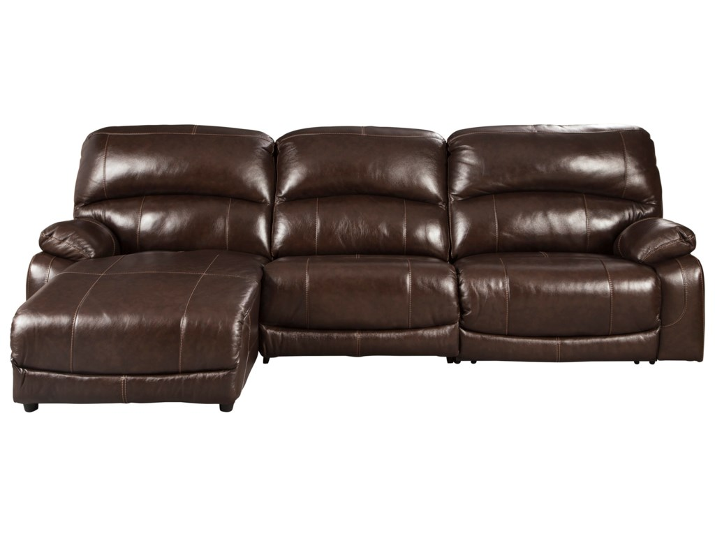 Hallstrung 3-Piece Reclining Sectional with Chaise