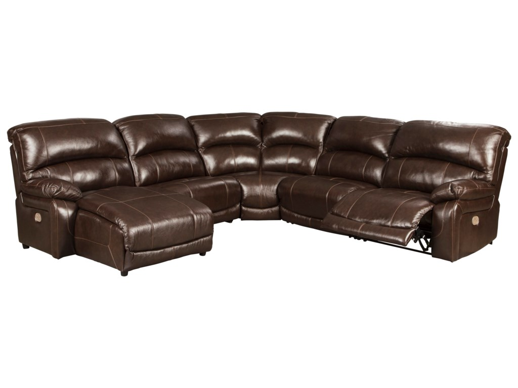 Ashley (Signature Design) Hallstrung5-Piece Reclining Sectional with Chaise
